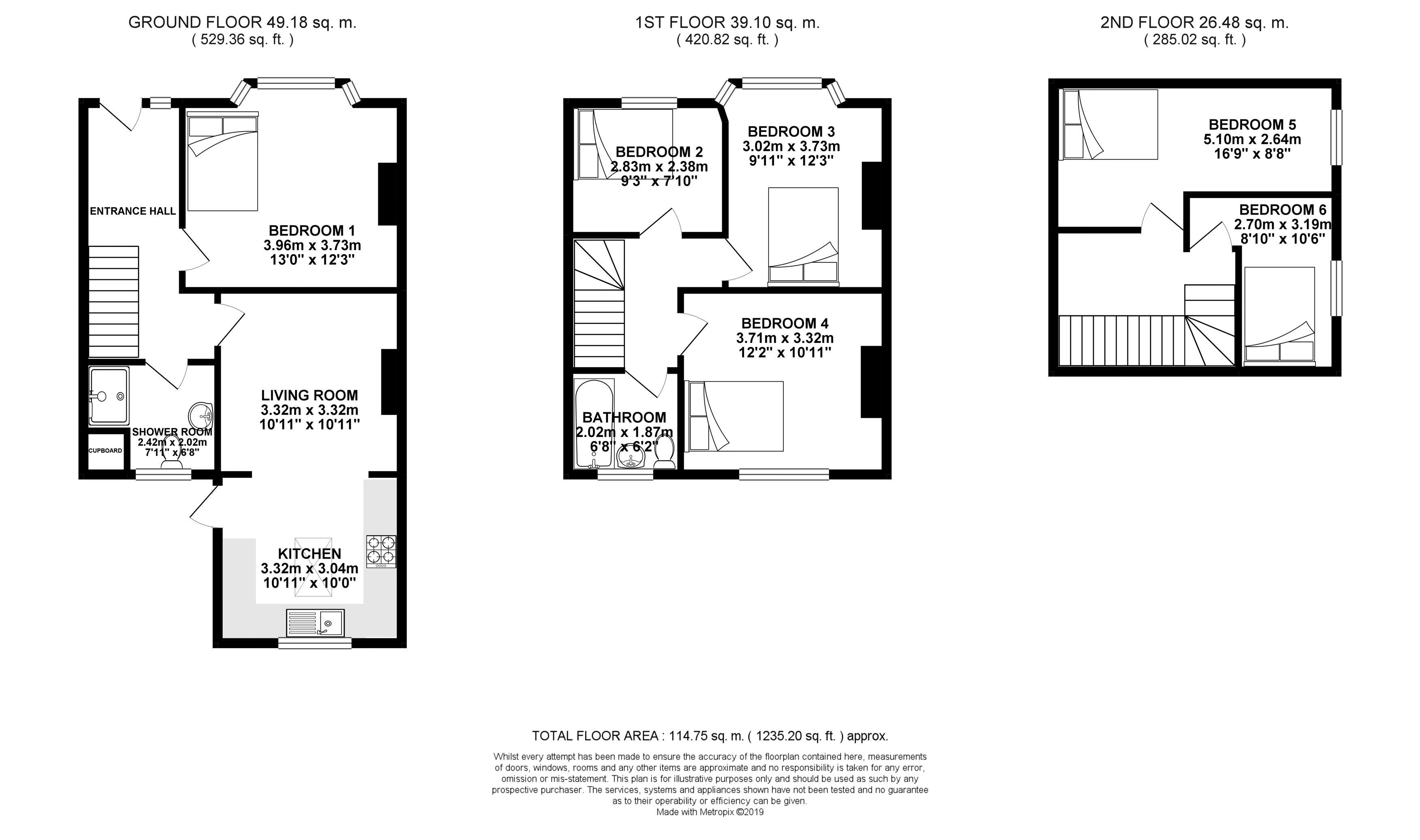 Floor plans for Eastbourne Road, Brighton property for sale in Coombe Road, Brighton by Coapt