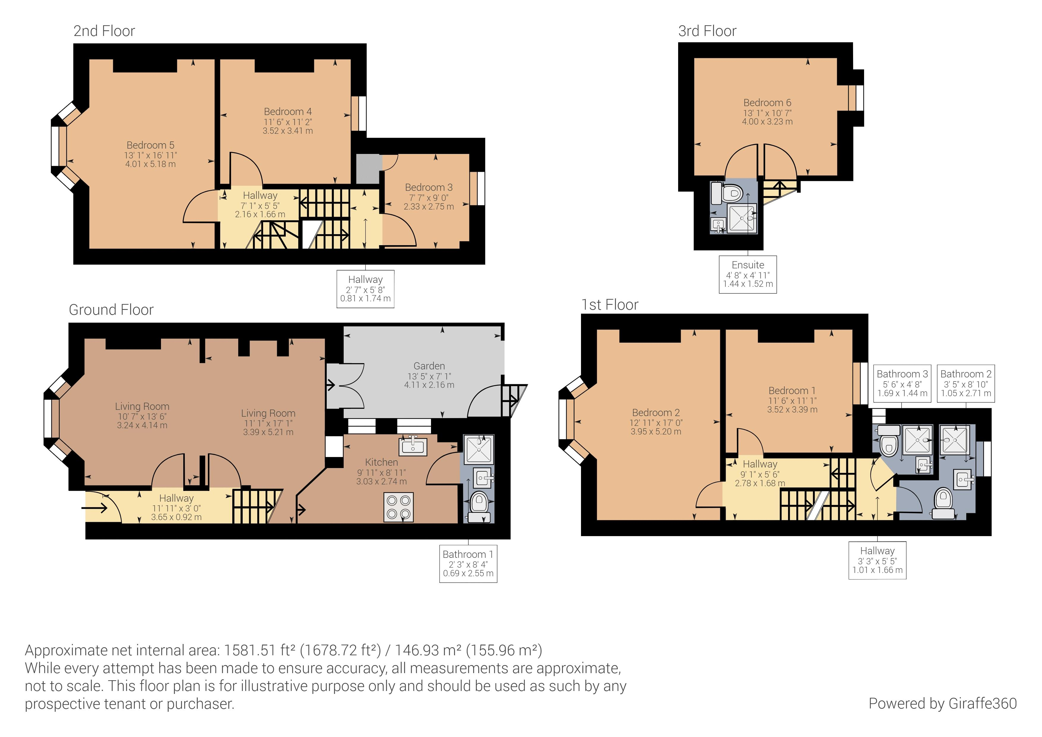 Floor plans for Buckingham Street, Brighton property for sale in , Brighton by Coapt