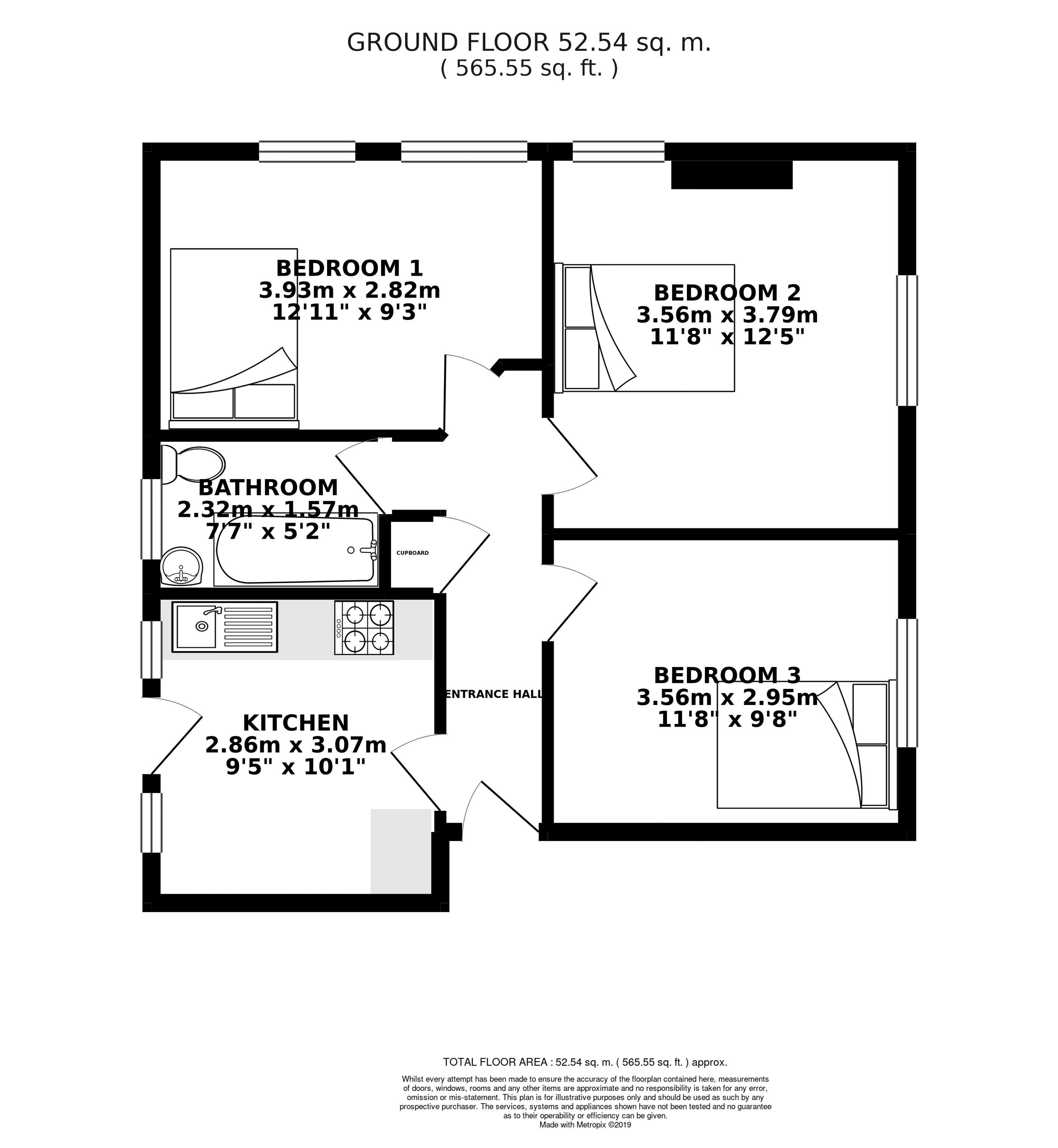 Floor plans for Park Crescent Place, Brighton property for sale in Lewes Road South, Brighton by Coapt