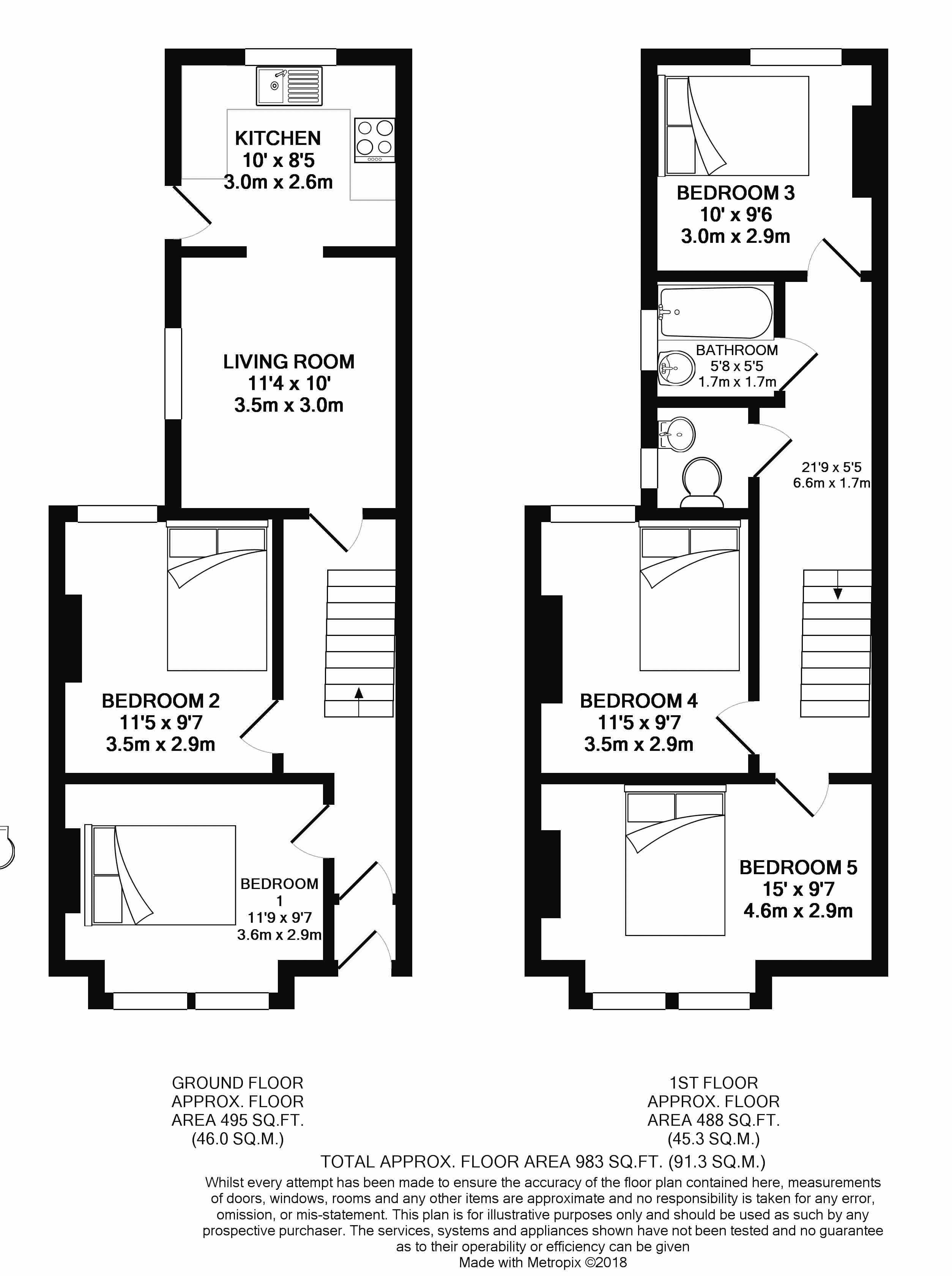 Floor plans for Whippingham Road, Brighton property for sale in Lewes Road South, Brighton by Coapt