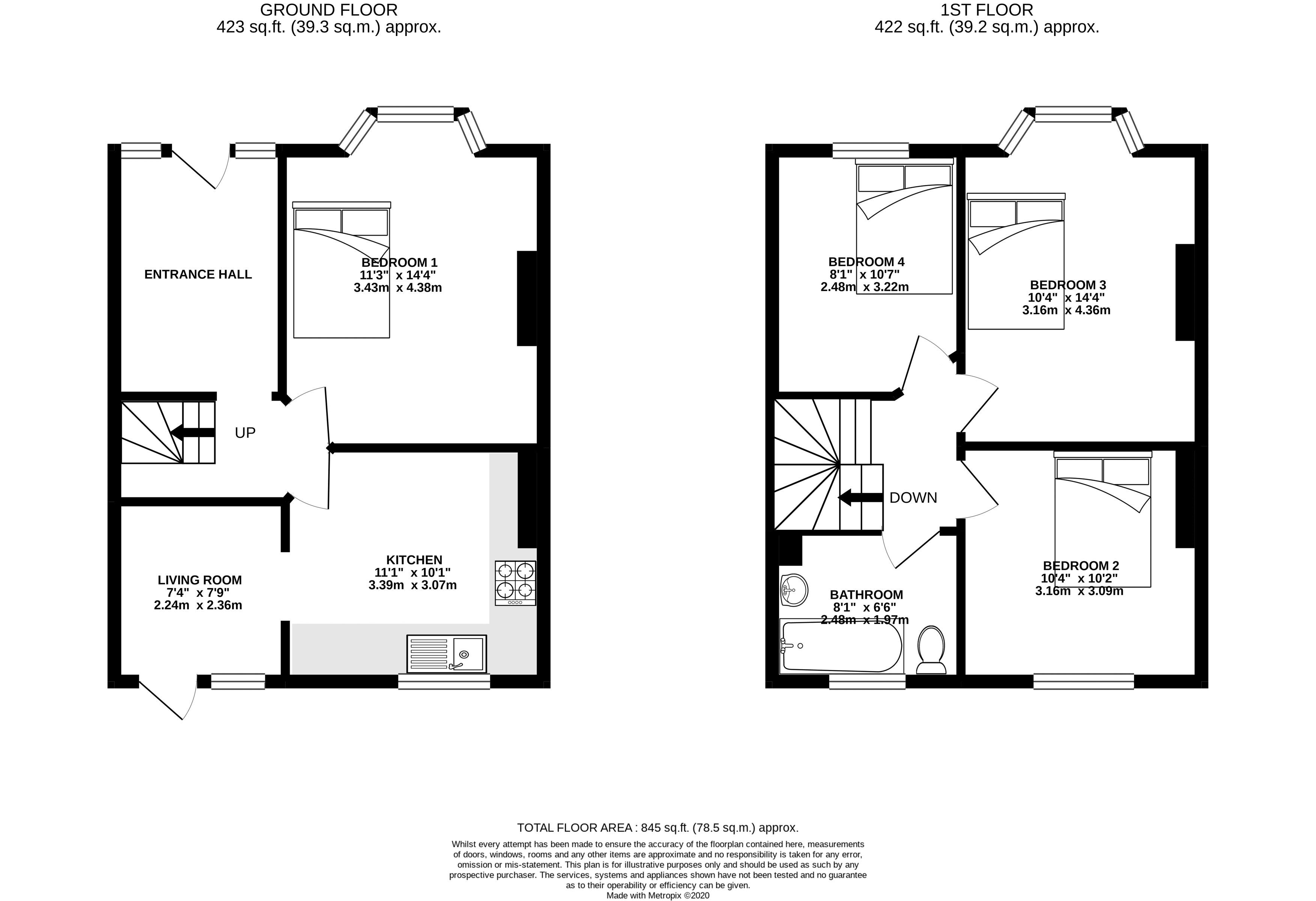 Floor plans for Ladysmith Road, Brighton property for sale in Coombe Road, Brighton by Coapt