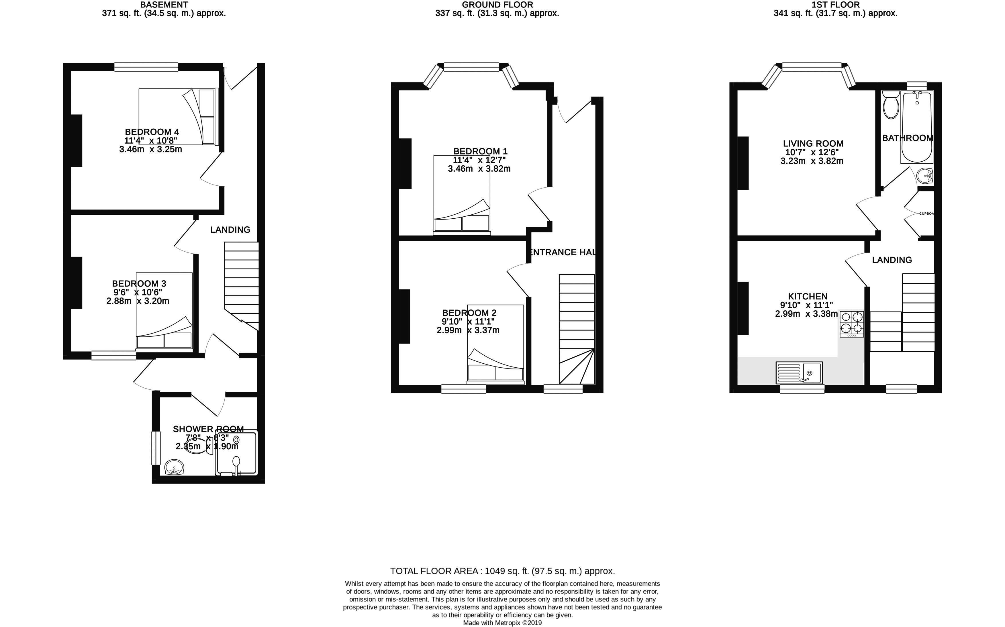Floor plans for Newmarket Road, Brighton property for sale in , Brighton by Coapt
