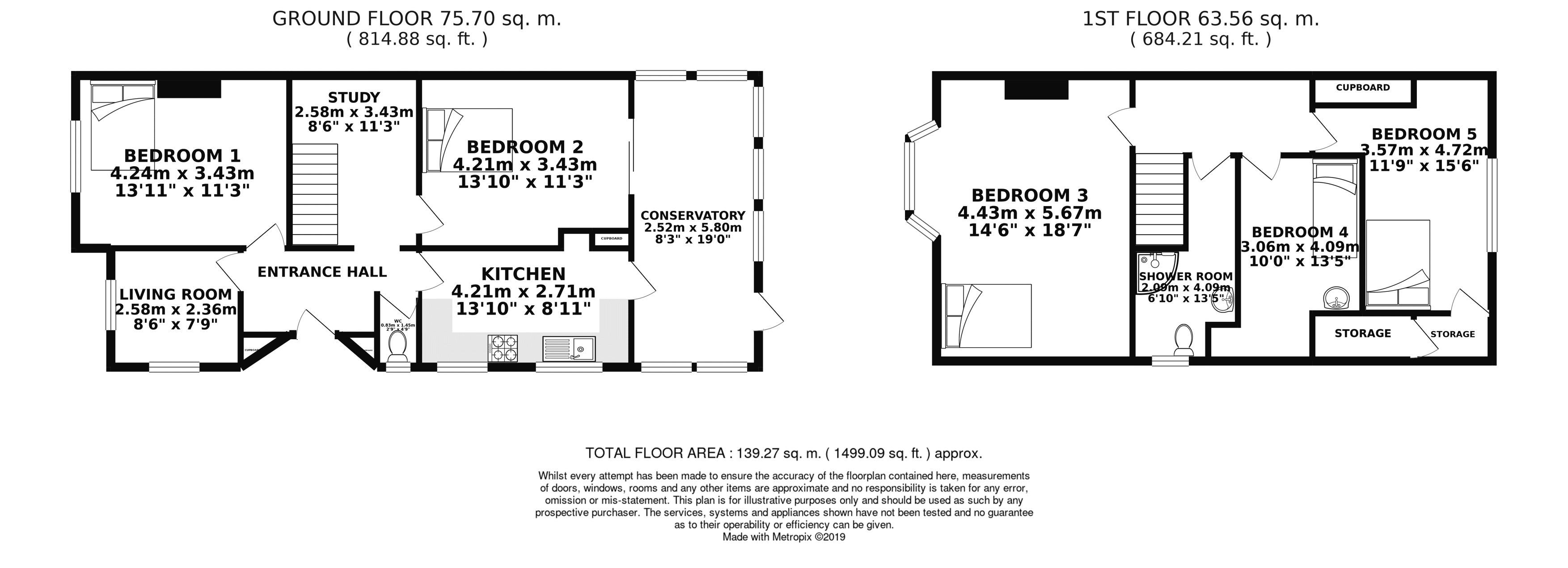 Floor plans for Coldean Lane, Brighton property for sale in Coldean, Brighton by Coapt