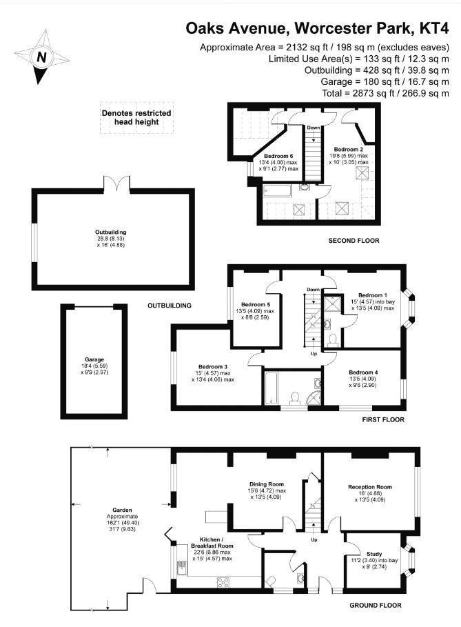 5 bedroom semi detached house Under Offer in Worcester Park - floorplan 1.