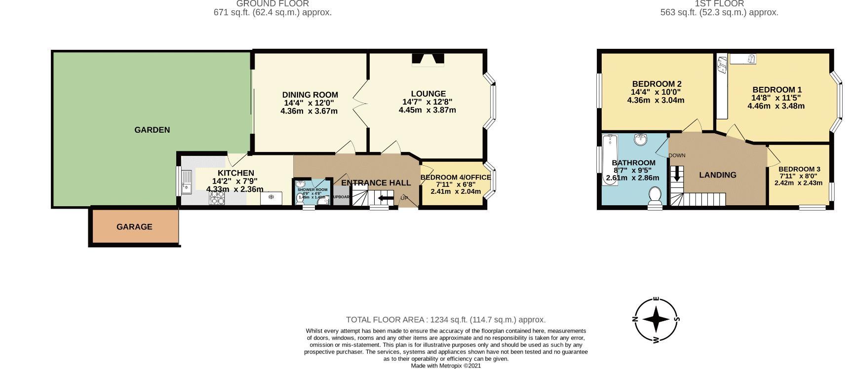 3 bedroom semi detached house Under Offer in Epsom - floorplan 1.