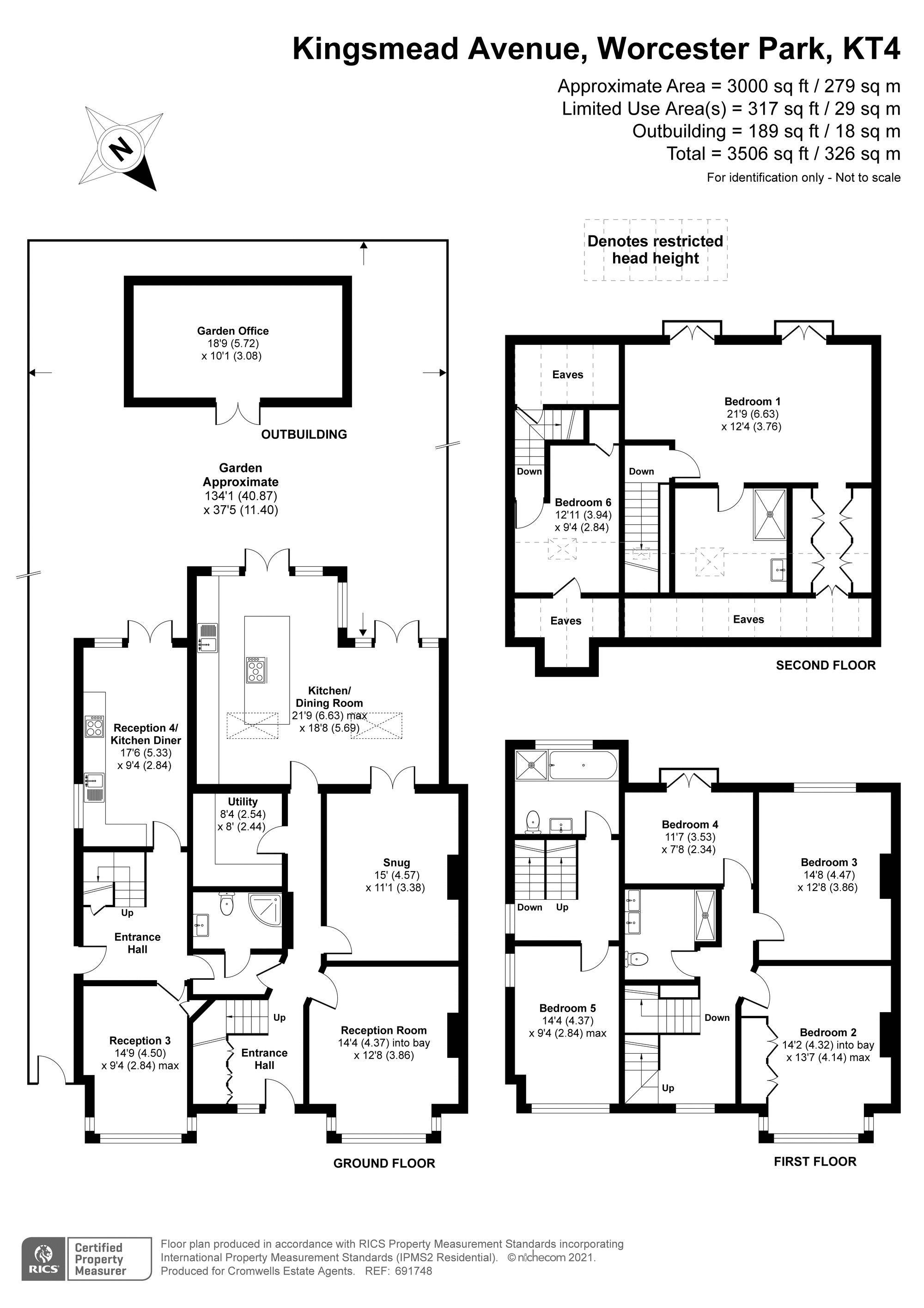 6 bedroom semi detached house Under Offer in Worcester Park - floorplan 1.