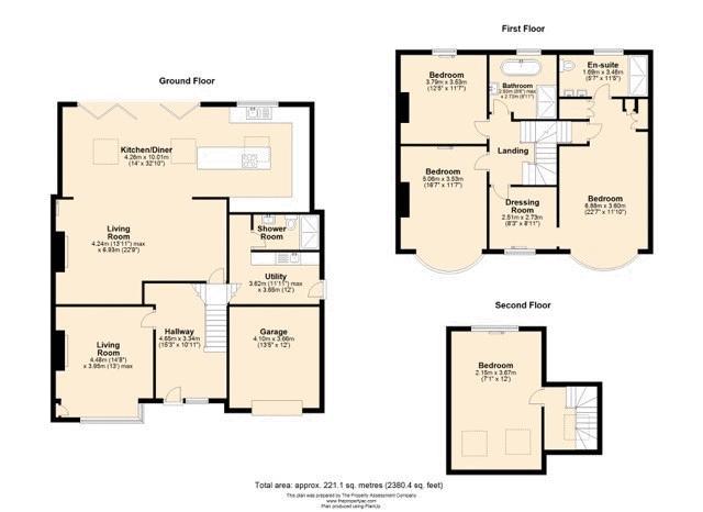 5 bedroom semi detached house Under Offer in Tadworth - floorplan 1.