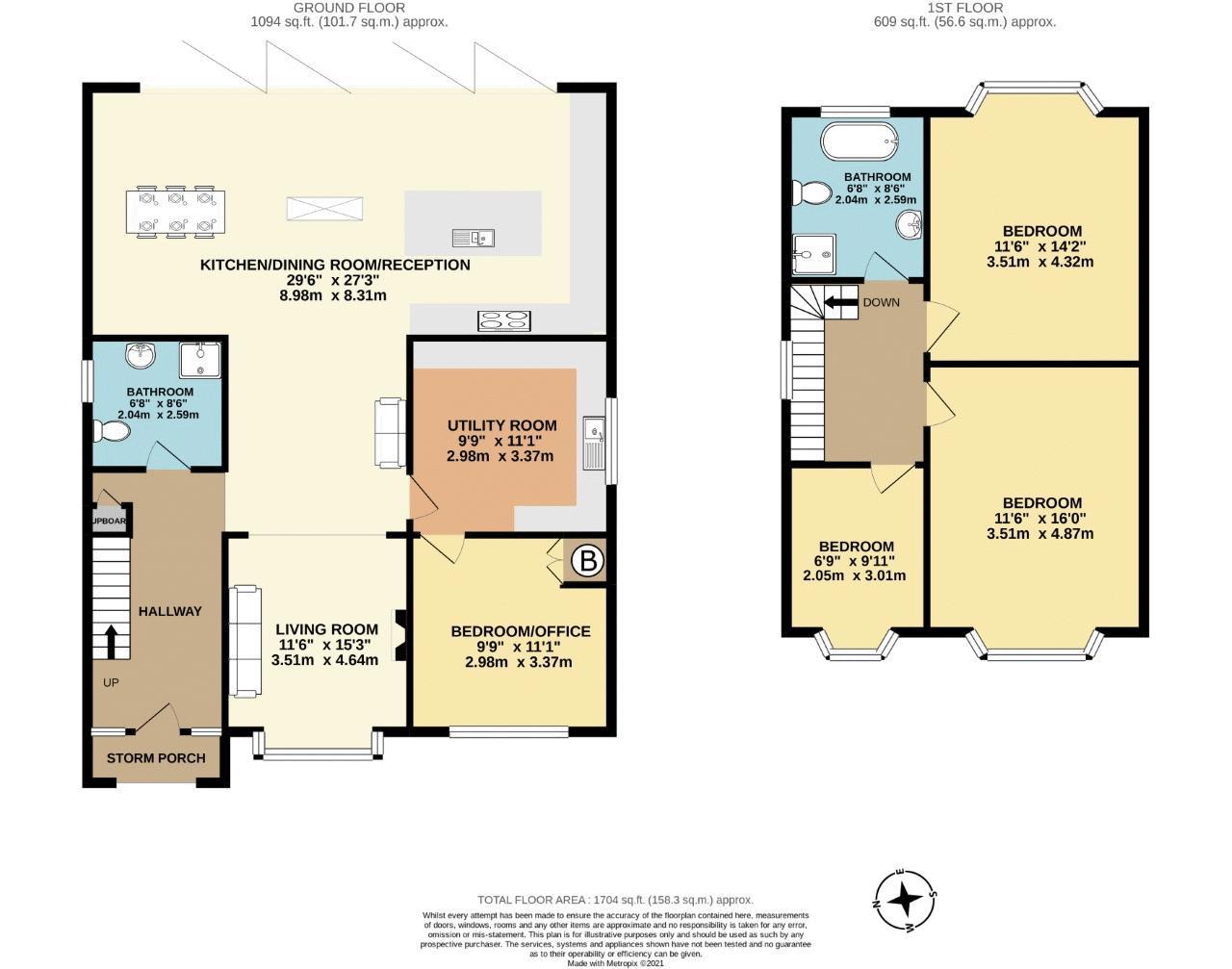 3 bedroom detached house SSTC in Sutton - floorplan 1.