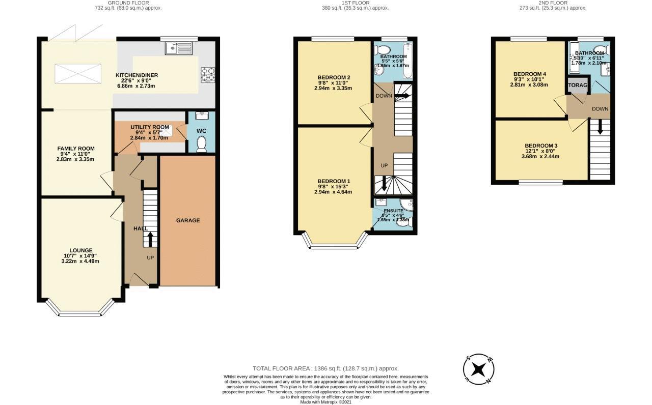 4 bedroom semi detached house Under Offer in Sutton - floorplan 1.