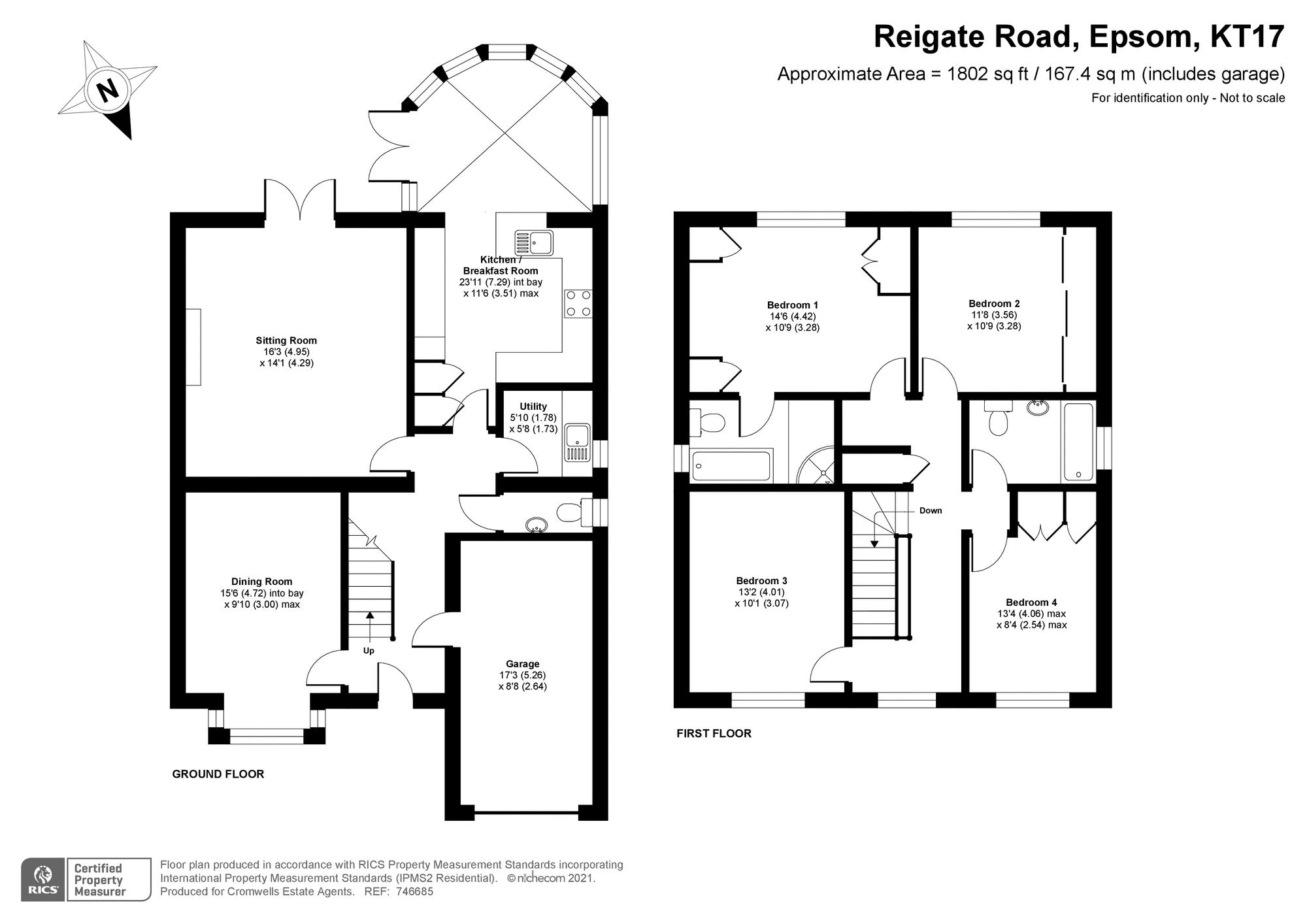 4 bedroom detached house SSTC in Epsom - floorplan 1.