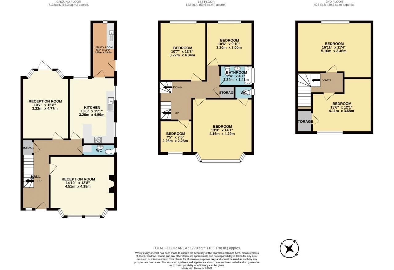 6 bedroom semi detached house Under Offer in Sutton - floorplan 1.