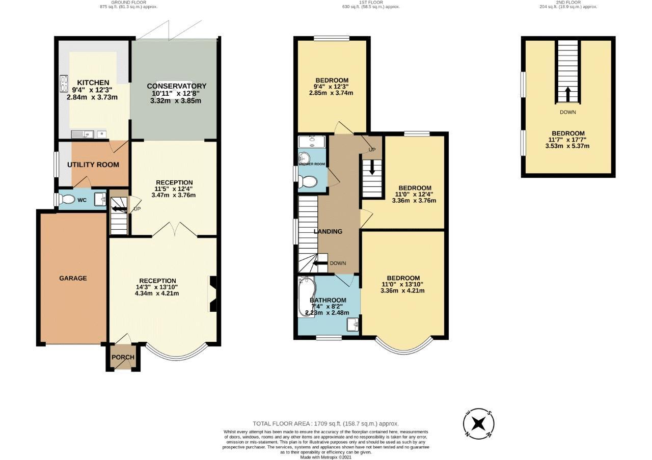 4 bedroom detached house SSTC in Sutton - floorplan 1.