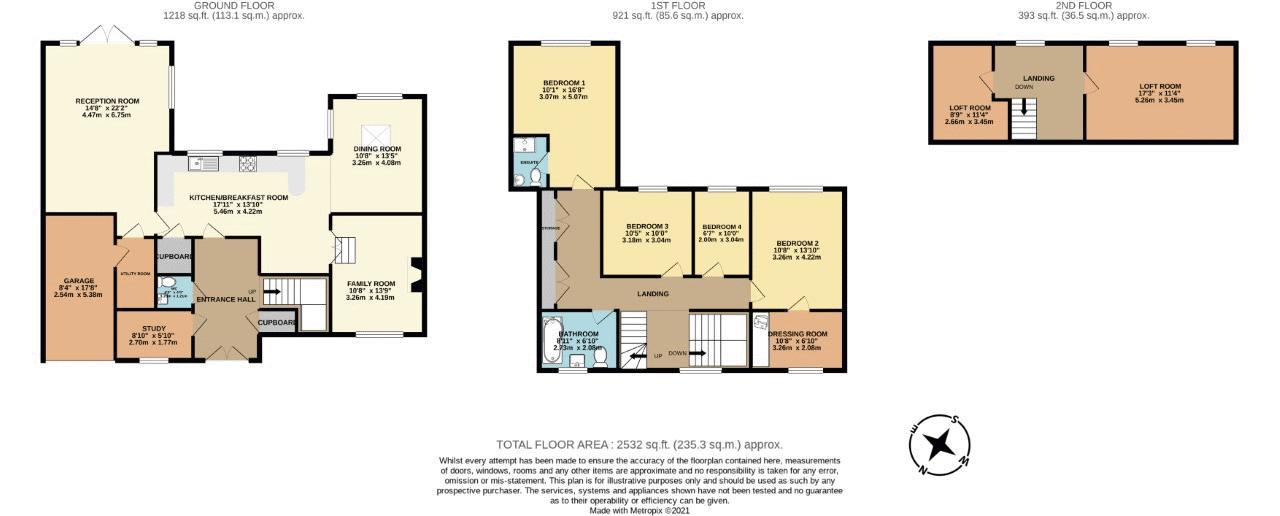 5 bedroom detached house For Sale in Banstead - floorplan 1.