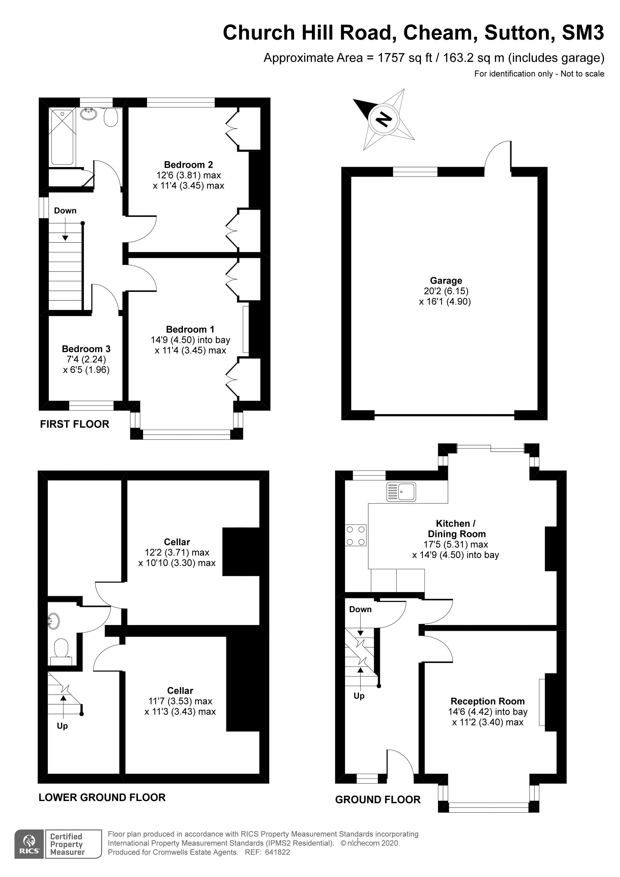 3 bedroom end terrace house For Sale in Sutton - floorplan 1.