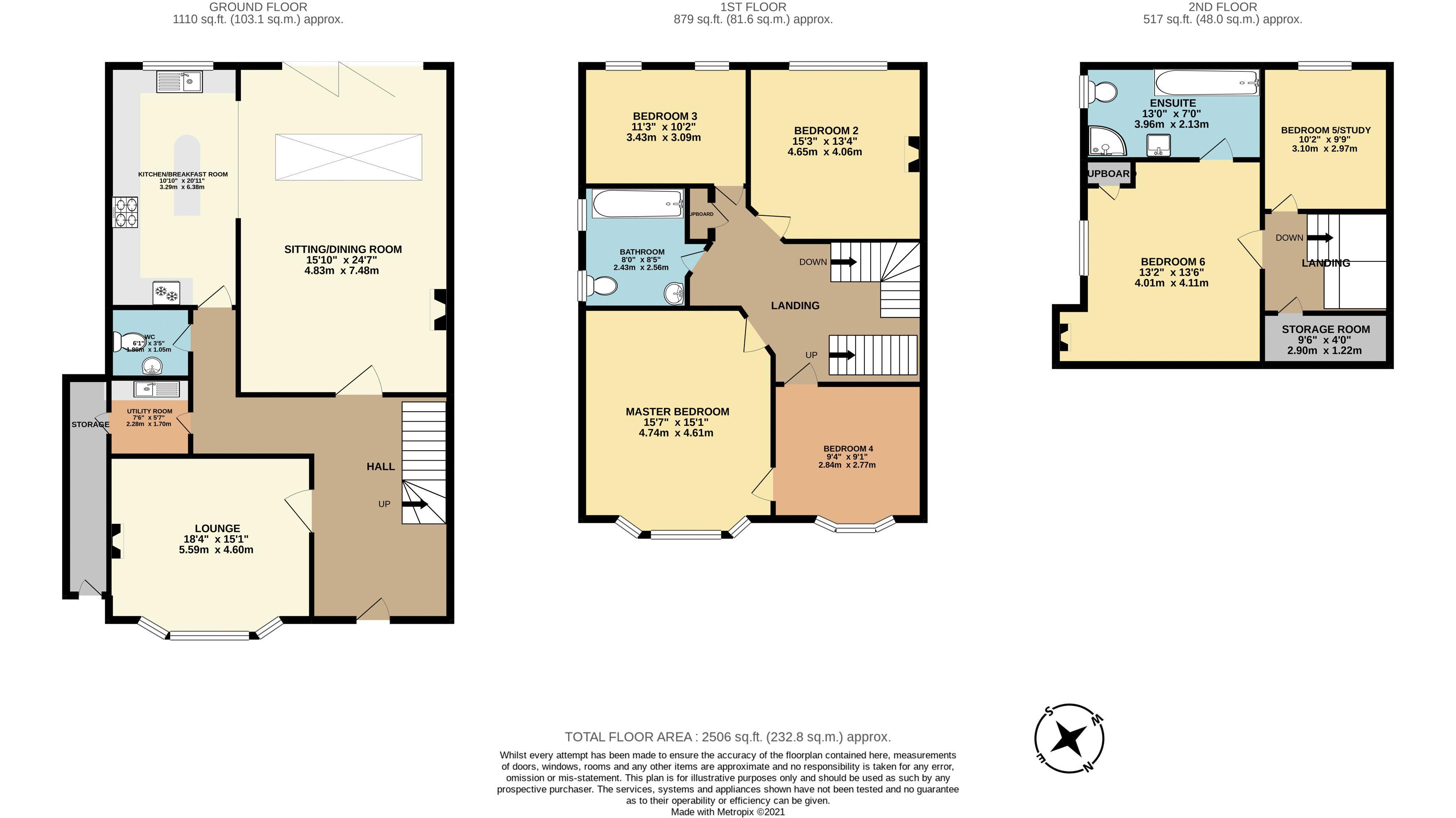 6 bedroom semi detached house SSTC in Sutton - floorplan 1.