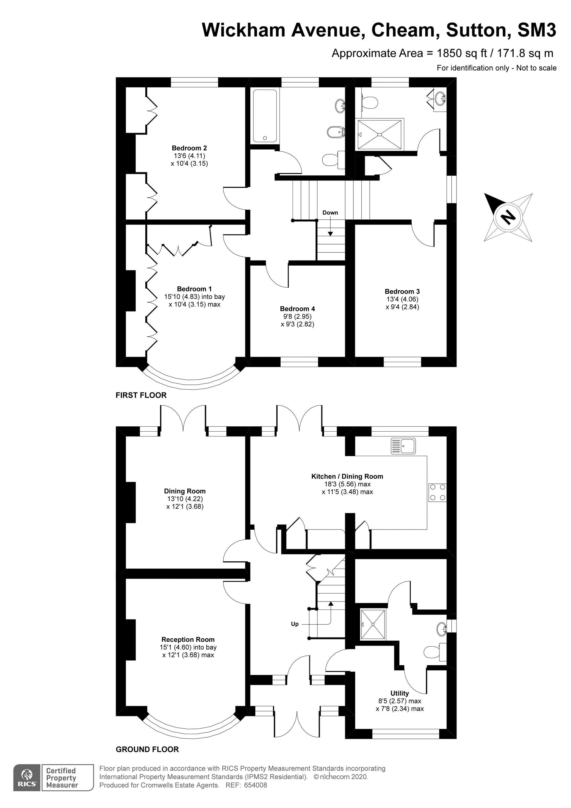 4 bedroom semi detached house SSTC in Sutton - floorplan 1.