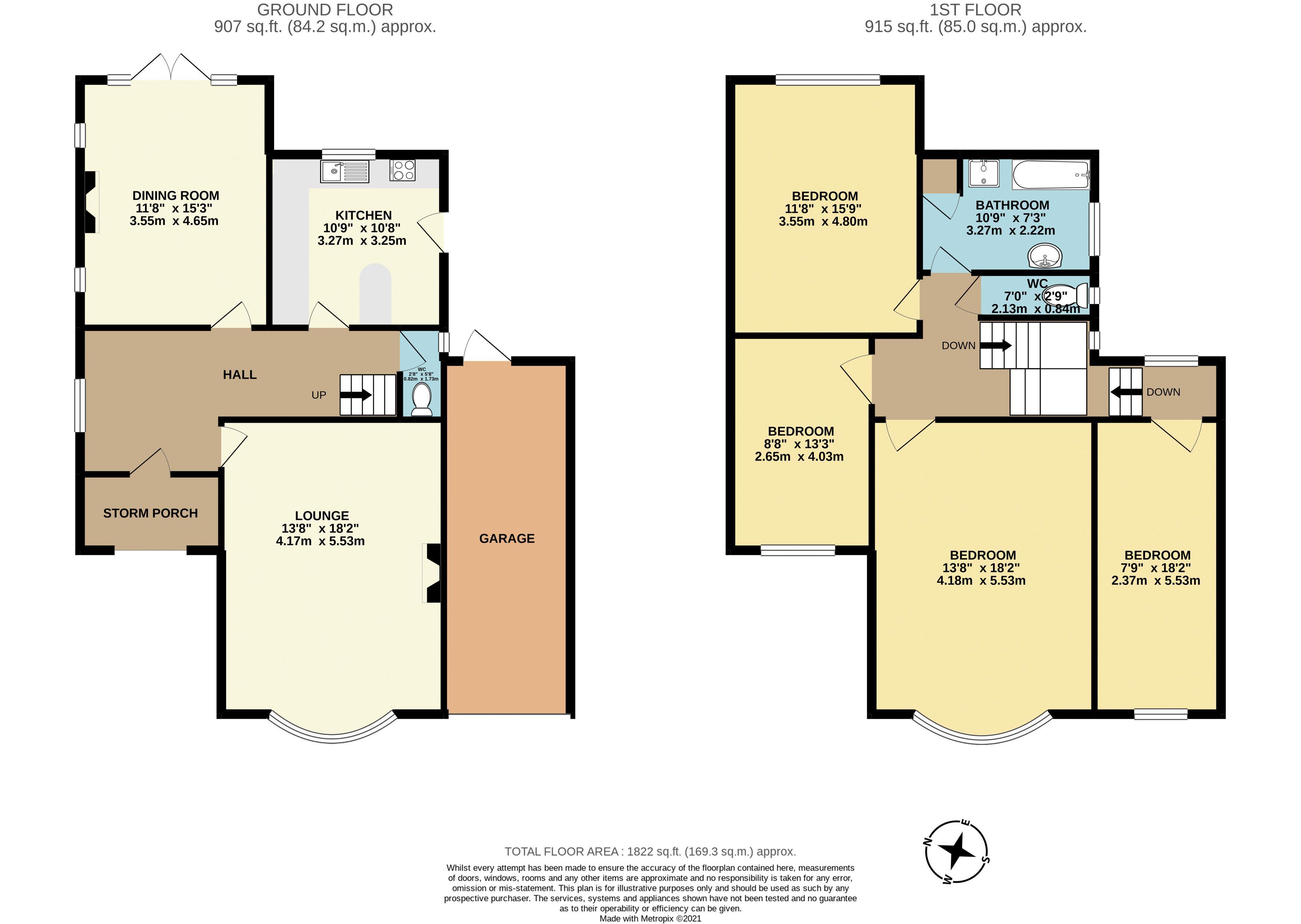 4 bedroom detached house Under Offer in Sutton - floorplan 1.