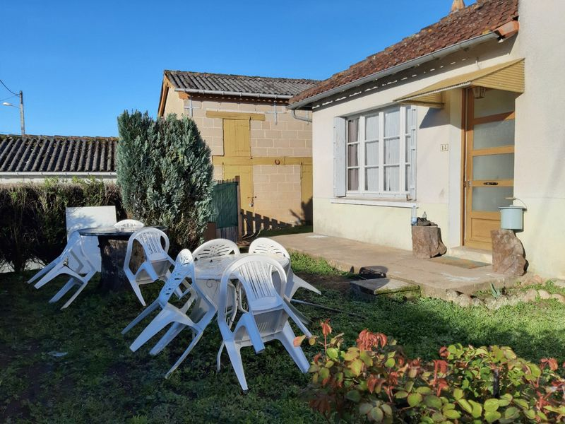 Good value town property, in good condition with pretty private gardens.