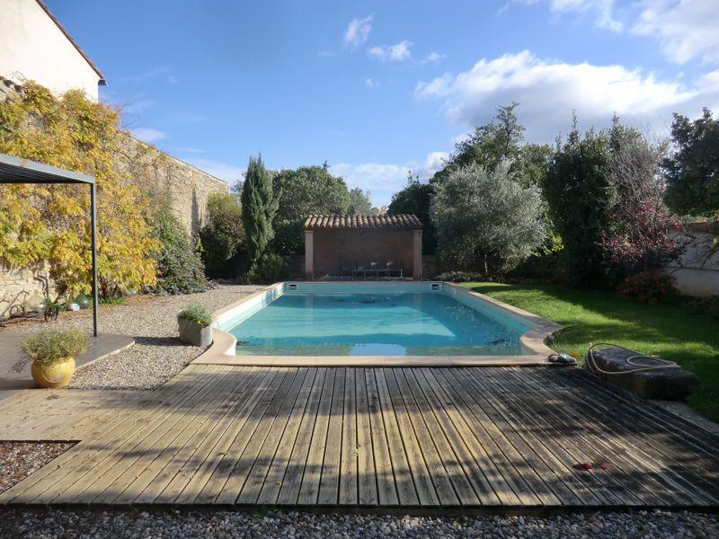 Detached maison de maitre with pool on edge of village