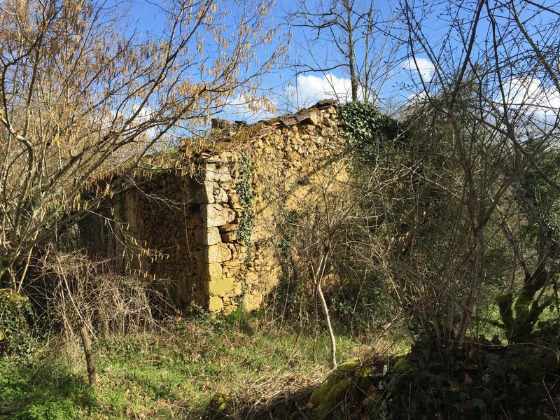Building land with a ruin to restore of approx 4.5 acres with the possibility to buy more land