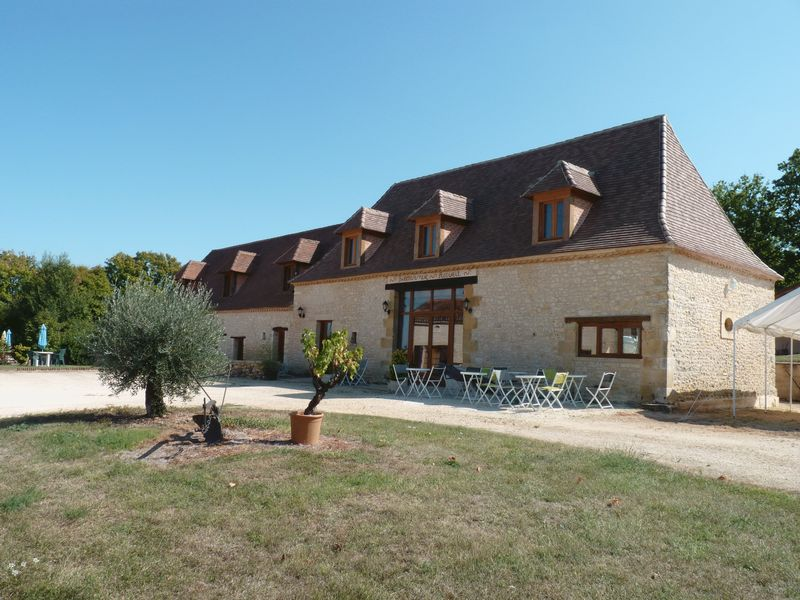 A stone built house with gite, restaurant, swimming pool with 78 acres of land
