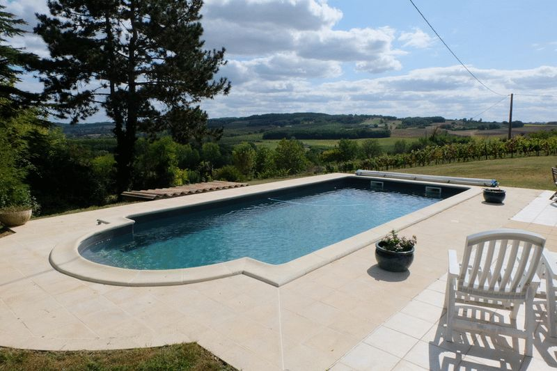stone farm house with mesmerizing view , hobby vineyard and a pool
