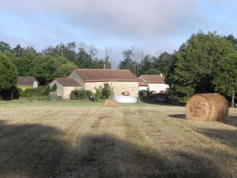 Three houses (gites) on 7.5 acres of land with natural swimming pool - income potential