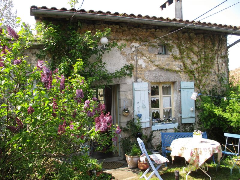 Small house in hamlet in french countryside