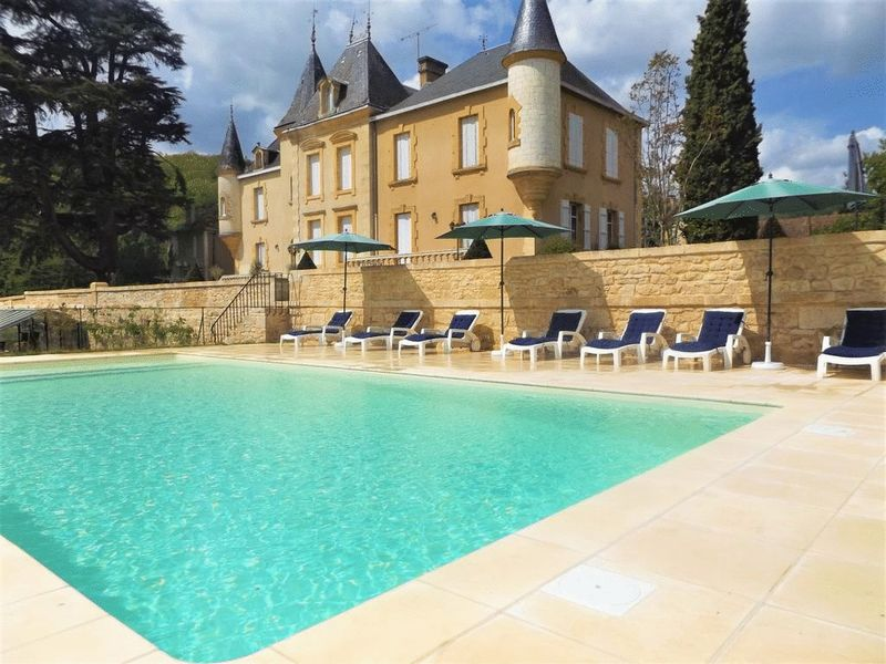 Beautiful castle with guest house, outbuilding, pool, close to Sarlat-la-Canéda