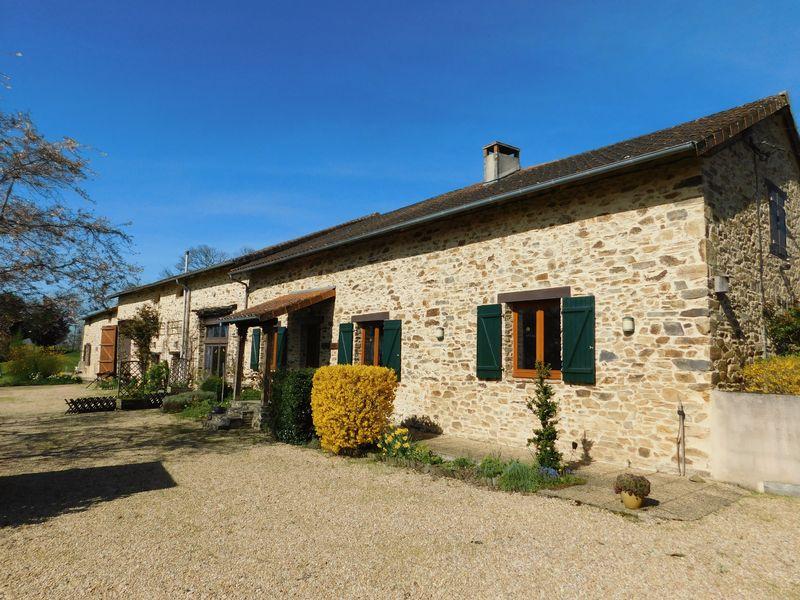 Stunning farmhouse, no work to do - with gite, lake, views and prairies